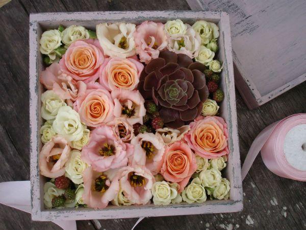Коробка с цветами 7 фото