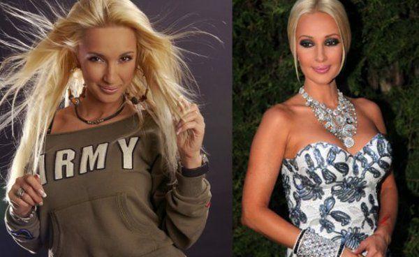 Лера Кудрявцева вначале карьеры и сейчас фото