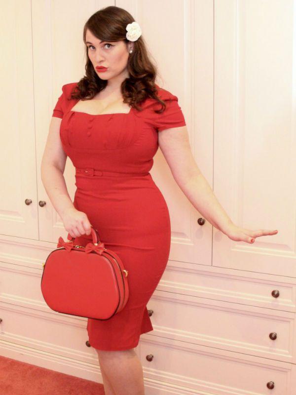 Образ в красном цвете фото