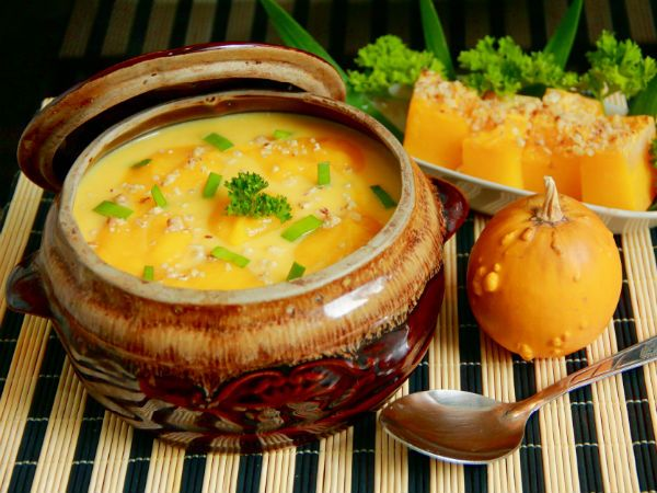 Простой рецепт тыквенного супа фото
