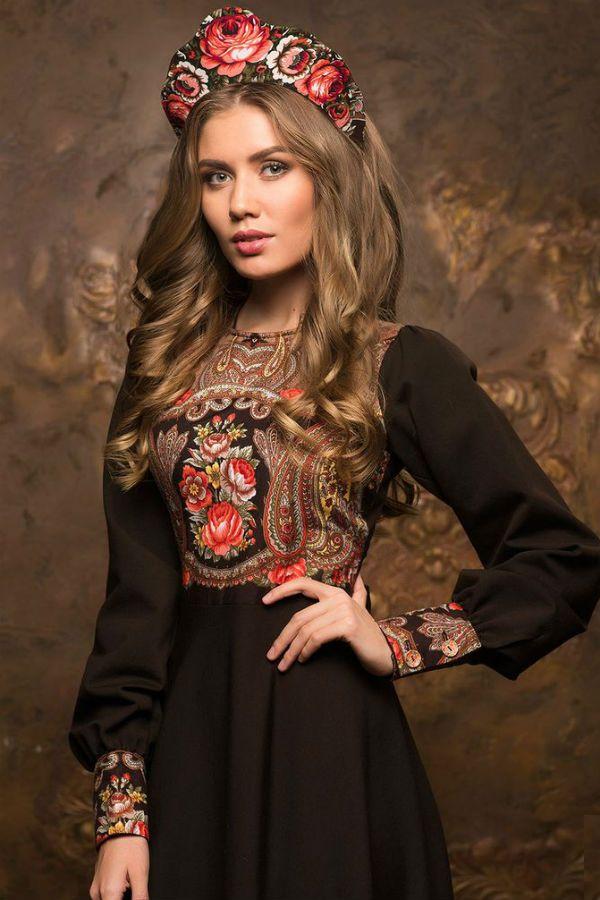 Русский стиль в одежде фото