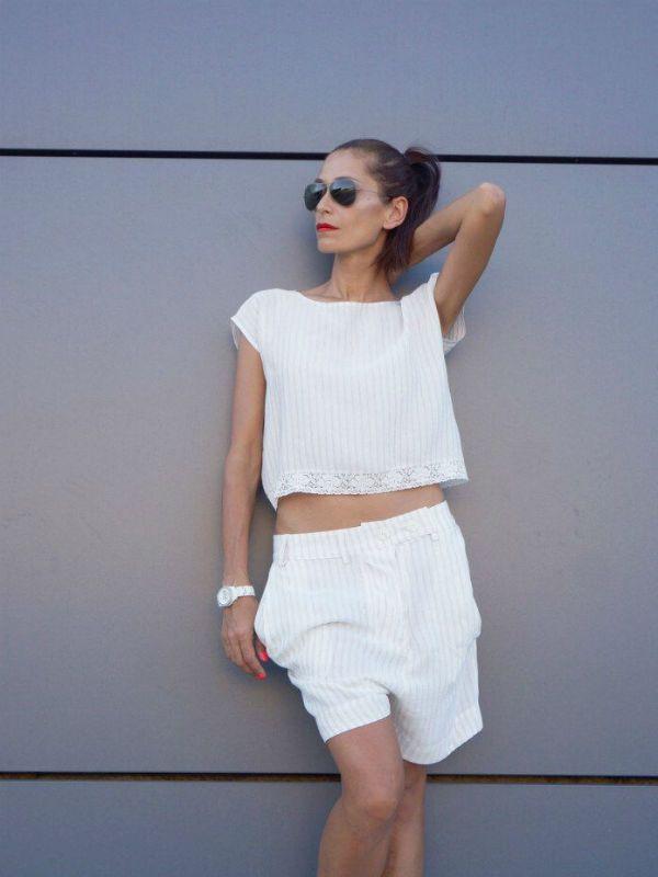 Белые шорты фото