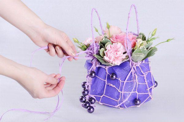 Сумочка с цветами 9 фото