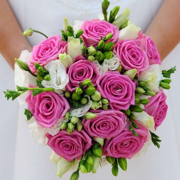 Свадебный букет из роз 3 фото