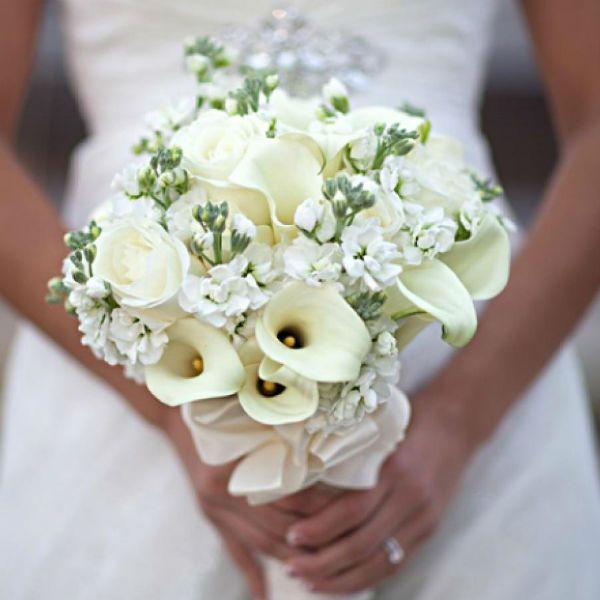 Свадебный букет из калл 7 фото