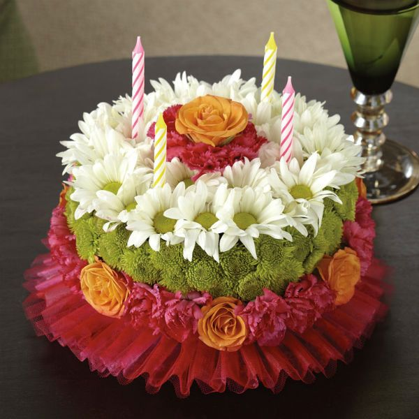 Торт из хризантем фото