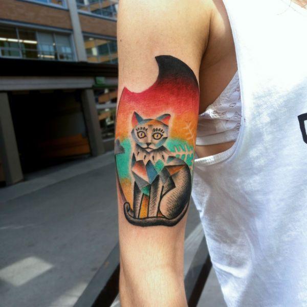 Татуировка кошки фото