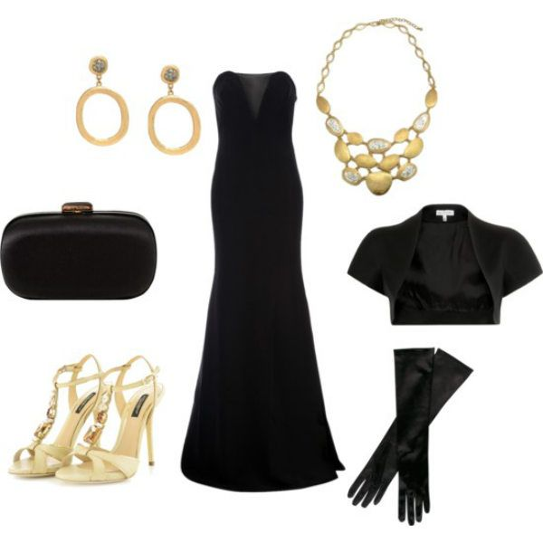 Аксессуары под черное платье 22 фото