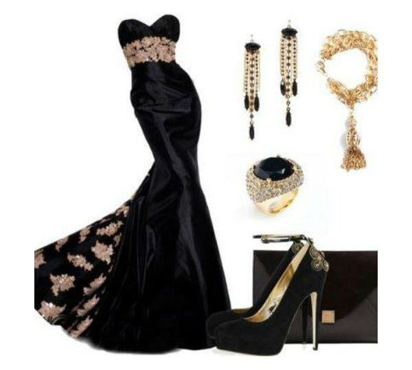 Аксессуары под черное платье 23 фото