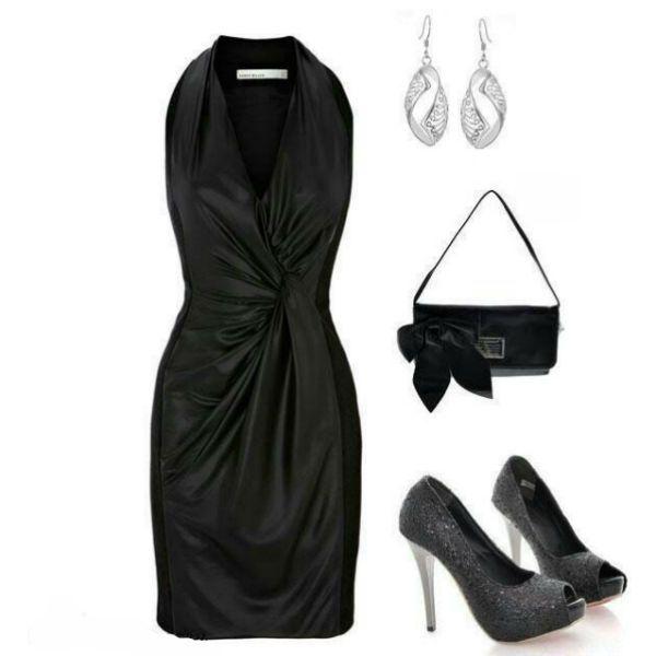 Аксессуары под черное платье 29 фото