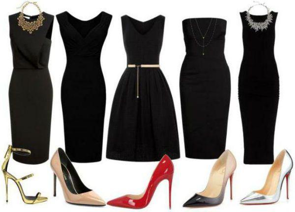 Аксессуары под черное платье 75 фото