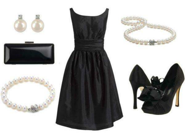Аксессуары под черное платье 8 фото
