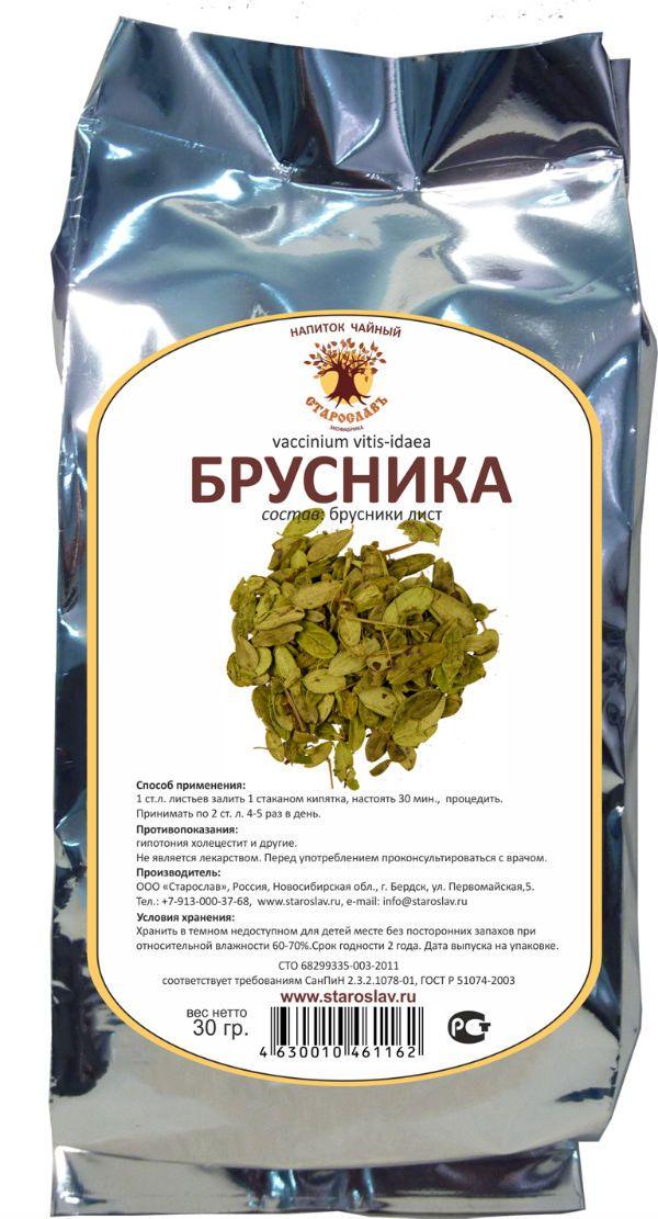Брусничный лист чай фото