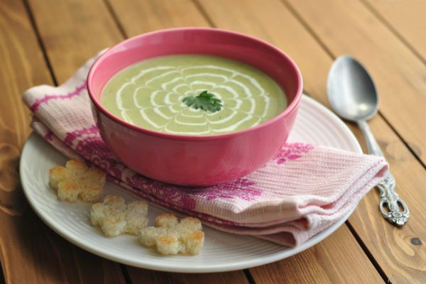 Кабачковый суп-пюре с рисом фото