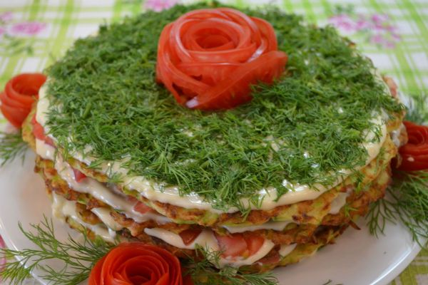 Кабачковый торт фото