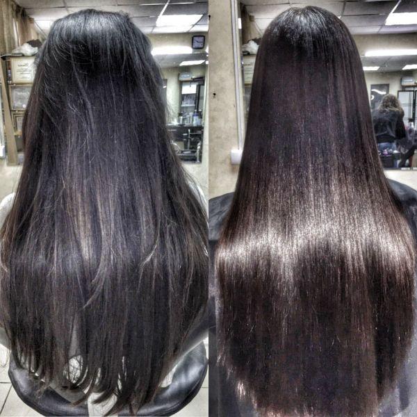 Кератиновое выпрямление волос 13 фото
