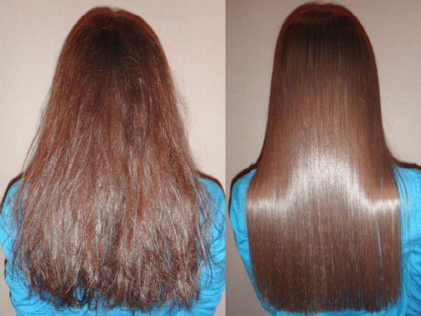 Кератиновое выпрямление волос 2 фото