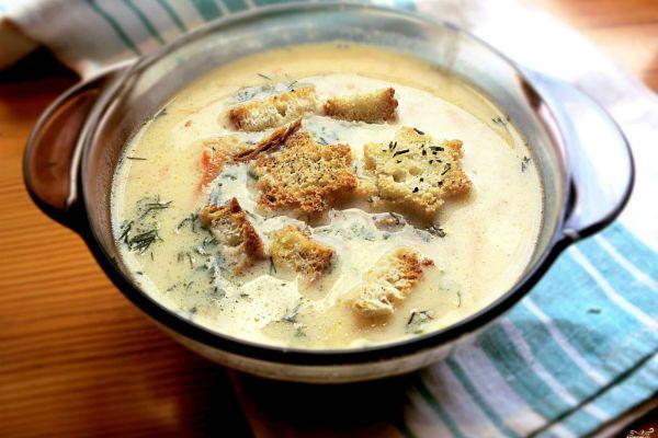Крем-суп сырный фото
