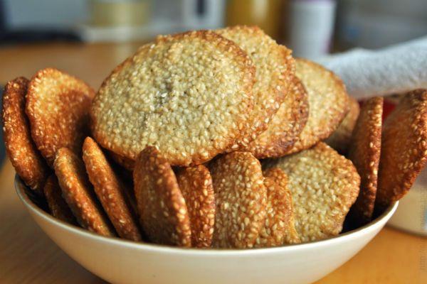 Кунжутное печенье фото