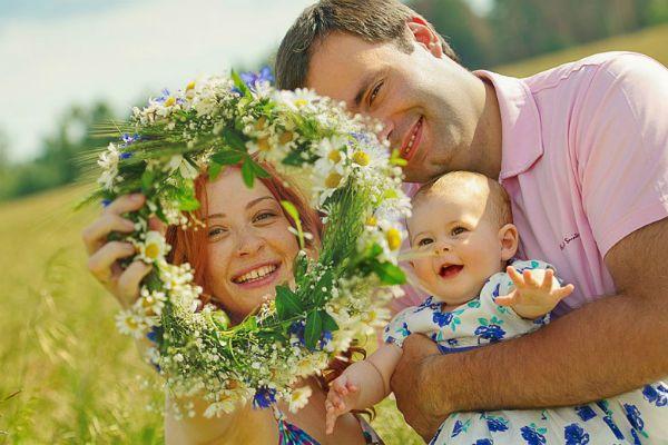 Семья летнее фото