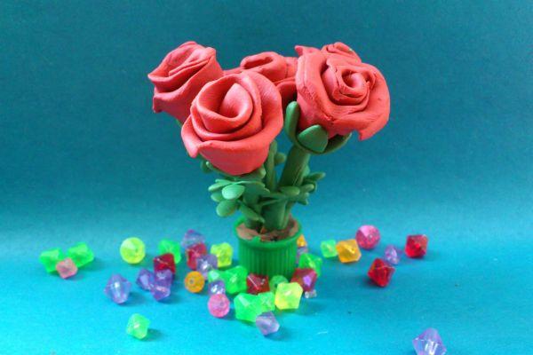 Объемные розы фото
