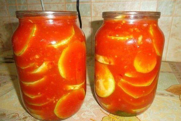 Патиссоны в томатном соке фото