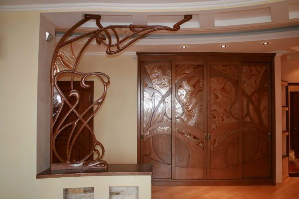 Деревянная перегородка 10 фото