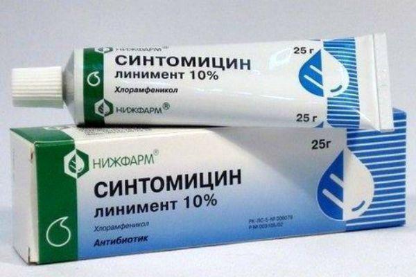 Синтомицин мазь фото