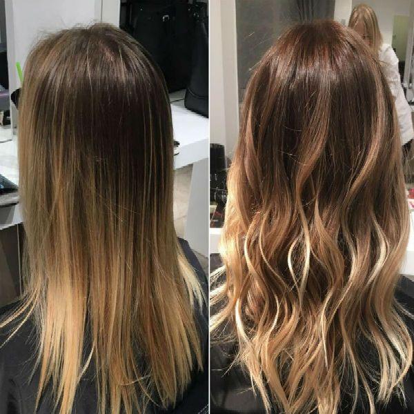 Балаяж русых волос фото