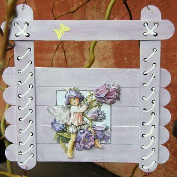 Декоративная табличка из палочек от мороженого 3 фото
