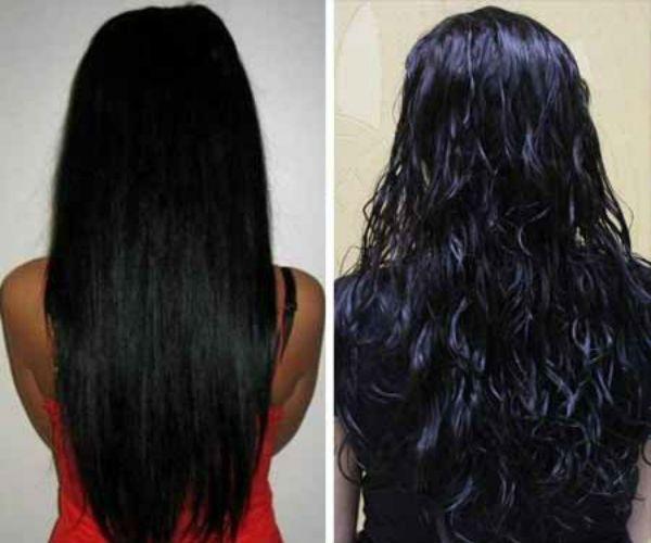 Карвинг длинных черных волос фото