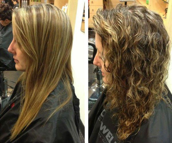 Карвинг длинных мелированных волос фото
