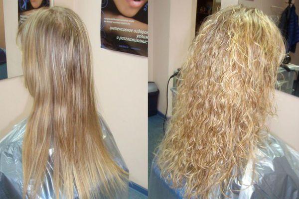 Карвинг длинных светлых волос фото