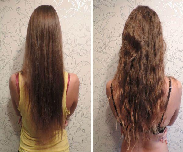 Карвинг длинных волос фото
