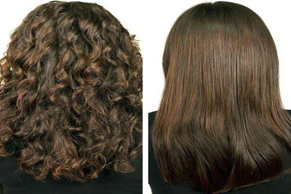 Карвинг каштановых волос фото