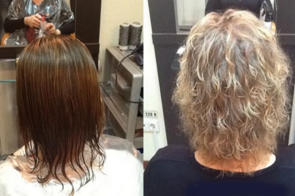 Карвинг коротких мелированных волос фото