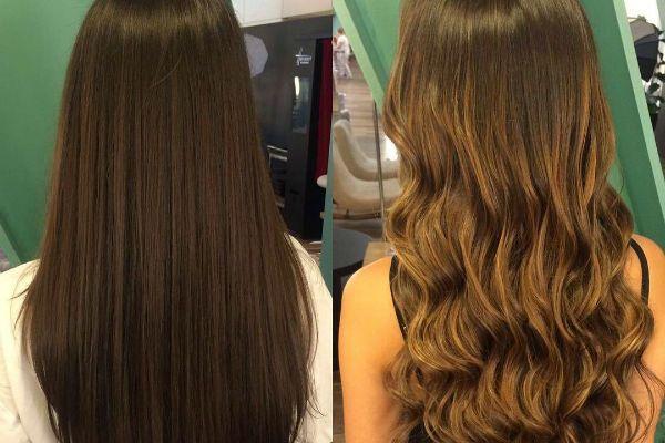Тонирование длинных волос фото