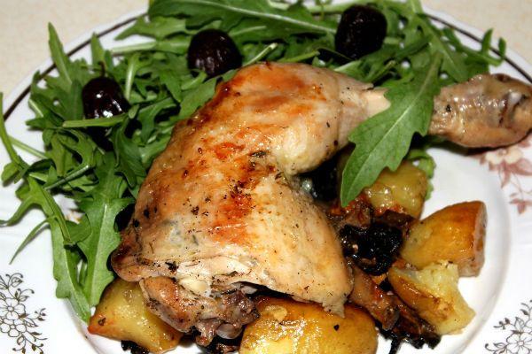Курица в духовке фото