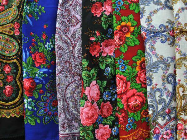 Павловопосадские платки фото