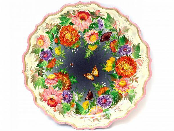 Поднос с тагильской росписью фото