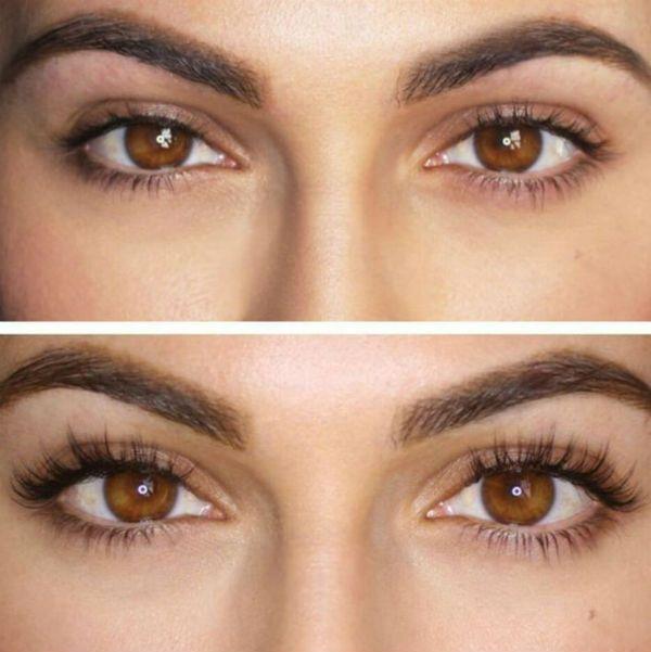 Пример ламинирования под янтарного цвета глаза фото