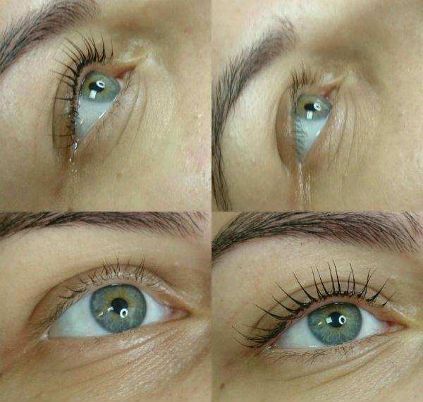 Пример ламинирования под голубые глаза фото