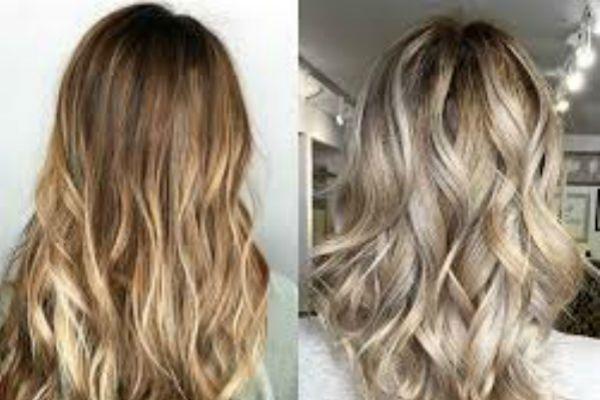 Русые волосы пепельный балаяж фото