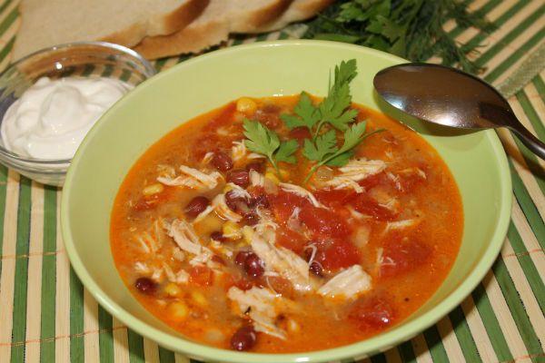 Суп из курицы по-мексикански фото