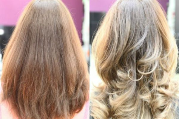 Светло-русые волосы балаяж фото