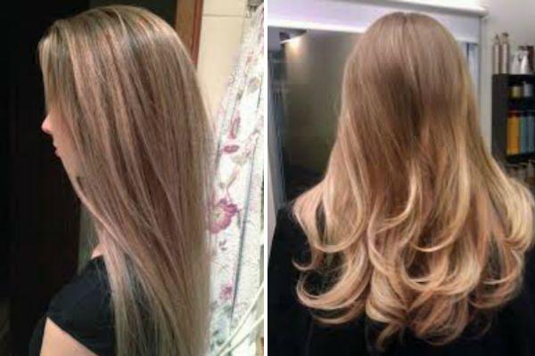 Светлый балаяж на длинные волосы фото
