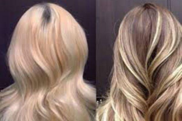 Светлый блонд балаяж фото