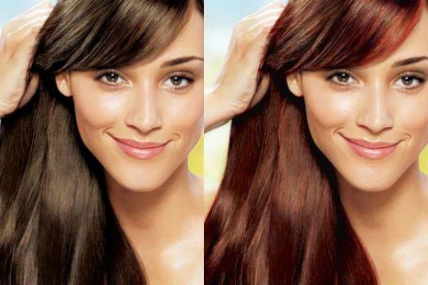 Придание темным волосам краснинки фото