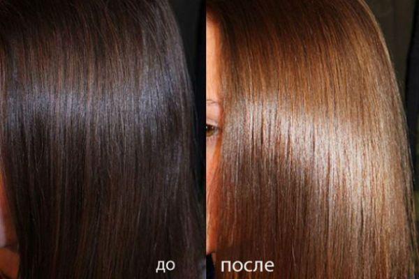 Тонирование очень темных волос с освещением фото