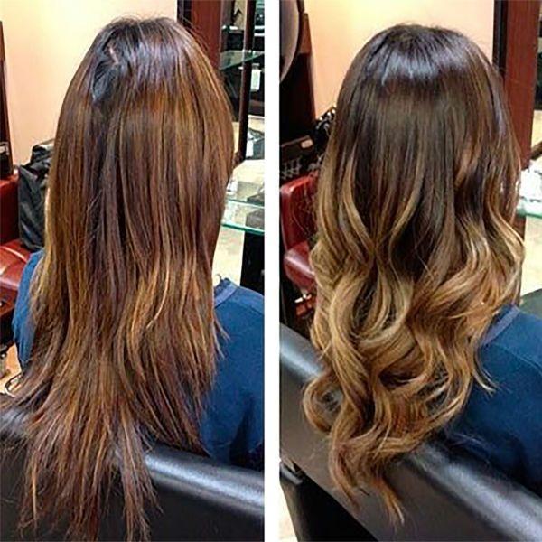 Тонирование волос балаяж фото